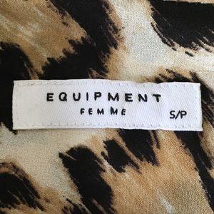 Equipment Tops - Equipment Leopard Print Silk Blouse Top